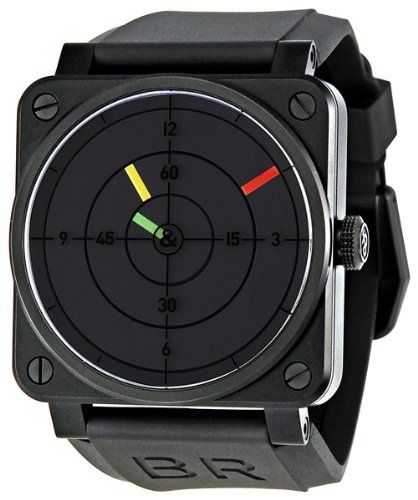 Bell and Ross Aviation Radar Black Dial Mechanical Mens Watch BR0392-RADAR