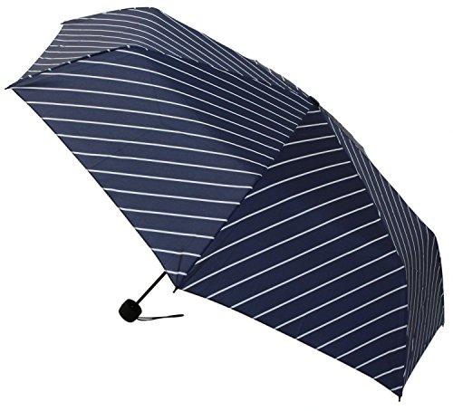 【晴雨兼用】 折りたたみ傘 収納袋入 ストライプ ミニ 58cm MSM-002
