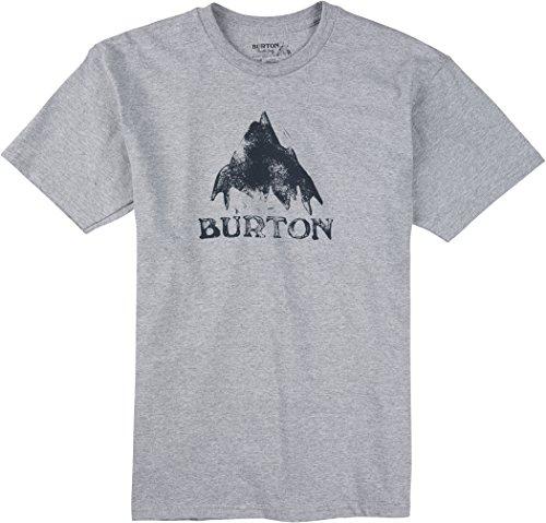 Burton-Maglietta da uomo Stamped MTN a maniche corte, Uomo, T-Shirt Stamped Mtn Short Sleeve, Grigio erica, L