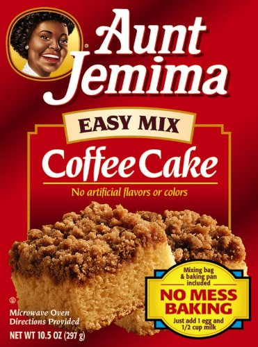 Aunt Jemima Coffee Cake EZ Mix, 10.5-Ounce Boxes (Pack of 12)