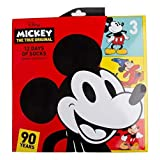Mickey Mouse 90th Anniversary 12 Days of Socks Advent Calendar Gift Set (Womens) (Color: Multi, Tamaño: 9-11)