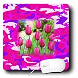 mp_174335_1 Florene - Pop Art - image of tulips on girly camouflage - Mouse Pads