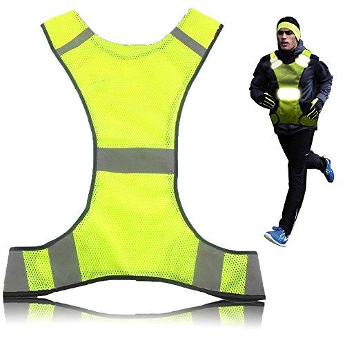 Reflektierende Warnweste,Sicherheitsweste LDream®,Safety Visibility Weste,Sicherheits-Reflektoren Set bestehend aus Sicherheitsweste,Warnweste Reflektierende Running Weste Für Damen Und Herren
