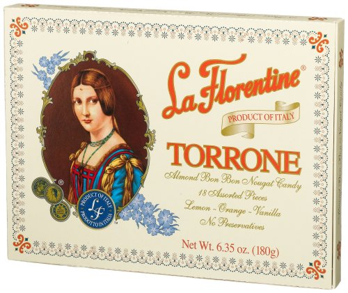 La Florentine Torrone, Lemon, Orange, Vanilla, 6.35-Ounce, 18-Count Boxes (Pack of 4)