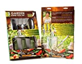 Backyard Gardening Tools that work hard, Keep Gardening Fun. Ergonomic Soft Grip Handle. Gardening Gifts for Mom. Best 3-piece Garden Tool Set. Square Foot Garden Raised Bed Gardening Supplies. Great Home Garden Idea & for Patio Gardening