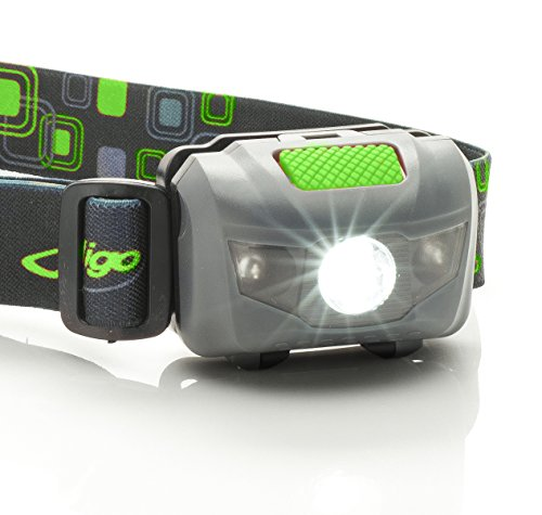 Headlamp Flashlight - CREE LED, Super Bright, Ultralight, Water Resistant, Durable, Adjustable - 168 Lumen Spotlight with Red Light - Best Head Lamp for camping, for running, even for kids. (Head Mounted Led Flashlight compare prices)