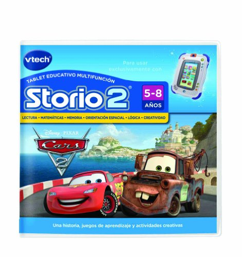 VTech Storio - Juego Cars 2 para Storio 2, 3S y Storio Max (80-230122)