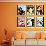 Elegant Arts & Frames High Quality PVC Group Collage Photo Frame Set Of 6 Black