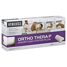 HoMedics Ortho Thera-P Memory Foam 4 Position Pillow, 1 pillow