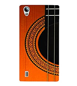 PrintVisa Music Guitar Strings 3D Hard Polycarbonate Designer Back Case Cover for Vivo Y15S