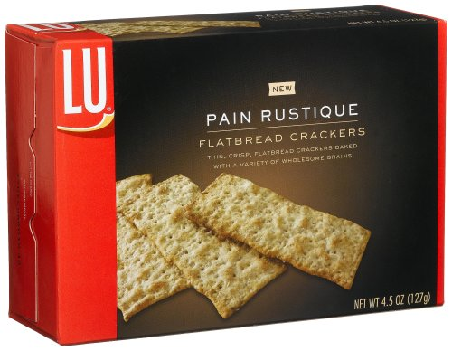 LU Pain Rustique Flatbread Crackers, 4.5-Ounce Boxes (Pack of 6)