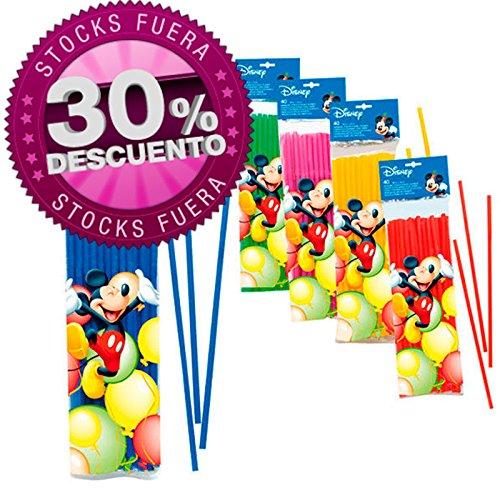 Drinking Straws, Disney Solid Colour Flexi Straws 24cmx6mm