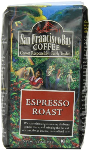 San Francisco Bay Coffee Whole Bean Espresso Roast, 12-Ounce Bags (Pack of 3)