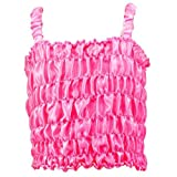 Girls Stretchy Satin Dress Top. Select Color: Hot Pink