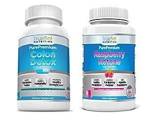 True Sol - Raspberry Ketones Plus With African Mango Acai Berry Green Tea Extract Resveratrol Apple Cider Vinegar And Kelp by True Sol Nutrition