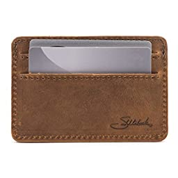Saddleback Leather Front Pocket ID Wallet Tobacco: Tough, Thin, Minimalist ID and Card Holder