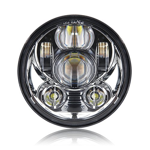 5-3/4 5.75 Inch Daymaker Projector LED Headlight for Harley Davidson Motorcycles Headlamp 45W Chrome (Projector Chrome Headlight compare prices)