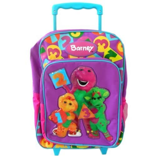Amazon.com: My Barney Backpack with Luggage Wheels