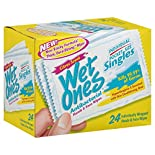 Wet Ones Wipes, Hands & Face, Antibacterial, Citrus Scent, Singles, 24 wipes