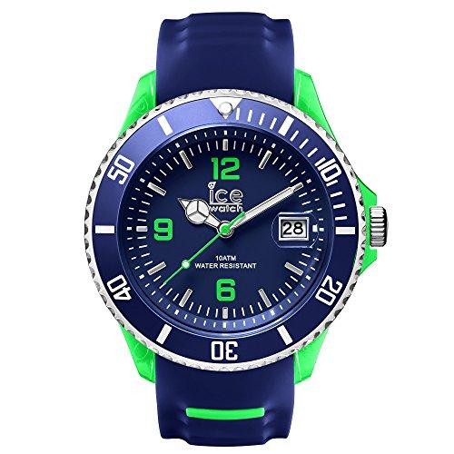 Ice-Watch SR.3H.BGN.BB.s.15 da uomo, funzione orologio sportivo grande in Silicone, colore: blu e verde-blu