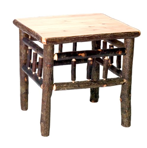 Image of Hickory Open End Table- Traditional (B001KD2HWK)