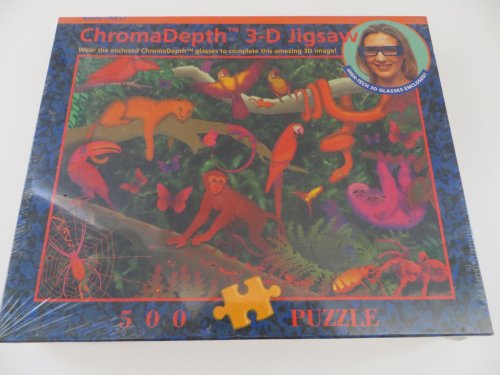 Rainforest 500 Piece Jigsaw Puzzle Chroma Depth 3-D Blue Opal Special Edition #BL150040