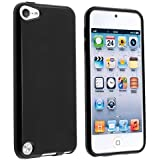 Invero® TPU Gel Back Case Cover for Apple Ipod Touch 5 (5th Generation) Includes Screen Protector, Micro Fibre Cleaning Cloth & Application Card (Black)