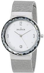 Skagen Women's SKW2004 Leonora Quartz 3 Hand Date Stainless Steel Silver Watch