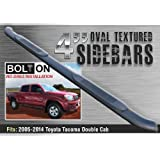 """TAC 2005-2015 TOYOTA TACOMA DOUBLE CAB/CREW CAB/EXTENDED CAB 4"""" PREMIUM OVAL """"TEXTURE"""" BLK Side Step Nerf Bar Running Board"""
