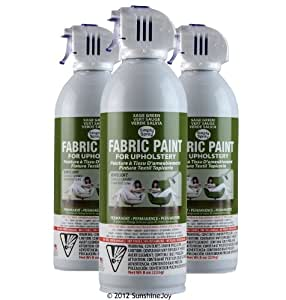 simply spray upholstery fabric spray paint 8 oz can 3 pack sage green. Black Bedroom Furniture Sets. Home Design Ideas