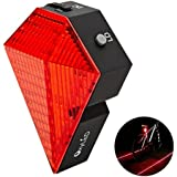 OxyLED® BTL-10 Rechargeable Bike Bicycle Cycling Safety Zone Tail Light, 8 Super Bright LED Taillights, 2 Red LaserWaterproof, 1000mAh Li-ion Battery,180°Adjustable Bracket, 220°Visibility