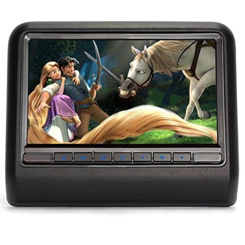 Pumpkin 10.1インチ デジタル TFTスクリーン モニター ヘッドレスト DVDプレーヤー 1024x600 USB/SD/FM/IRトランスミッター 5分だけ取り付け可能 (CH1005B)
