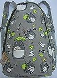 MeMoreCool My Neighbor Totoro Canvas Shoulder Bag Casual Style Amine Backpack/Shoulder/Book Bag Cartoon Travel Rucksack Unisex School Backpack New for Gift
