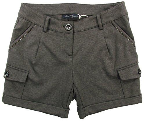 blumarine-miss-baby-girls-shorts-with-rhinestone-gray-brown