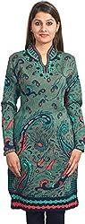 KTC Womens Wool Regular Fit Kurta (805-V54, Green, L)
