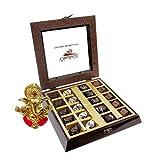 Chocholik Belgium Chocolate Gifts - Occasional Flavor Chocolate Box With Ganesha Idol - Diwali Gifts