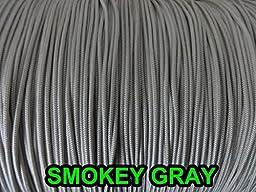 25 YARDS: 1.2 MM, SMOKEY GREY Professional Grade LIFT CORD for Window Treatments