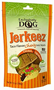 Exclusively Pet Jerkeez Taco Flavor Pet Treat