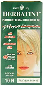 Herbatint 10N Platinum Blonde Permanent Herbal Hair Colour Gel 130ml