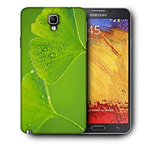 Snoogg Green Leaves Printed Protective Phone Back Case Cover For Samsung Galaxy NOTE 3 NEO / Note III