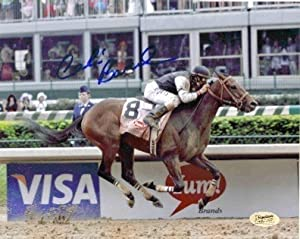 Calvin Borel Signed Mine That Bird Kentucky Derby 8x10 Action Wire Photo W/coa