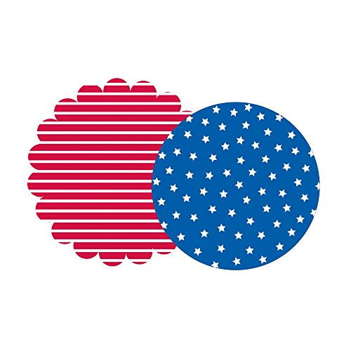 Creative Converting 8 Count Placemats, Combo Set, Scalloped Patriotic