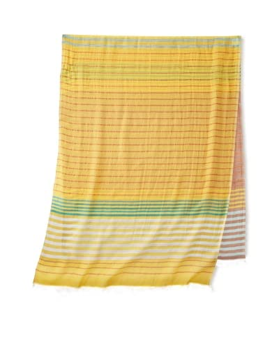Carolina Amato Women's Striped Scarf, Yellow Multi