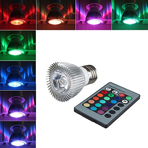 Grde™ Energy Saving 3W Rgb E27 Led Bulb Lamp Spot Light 16 Color Changing + Ir Control