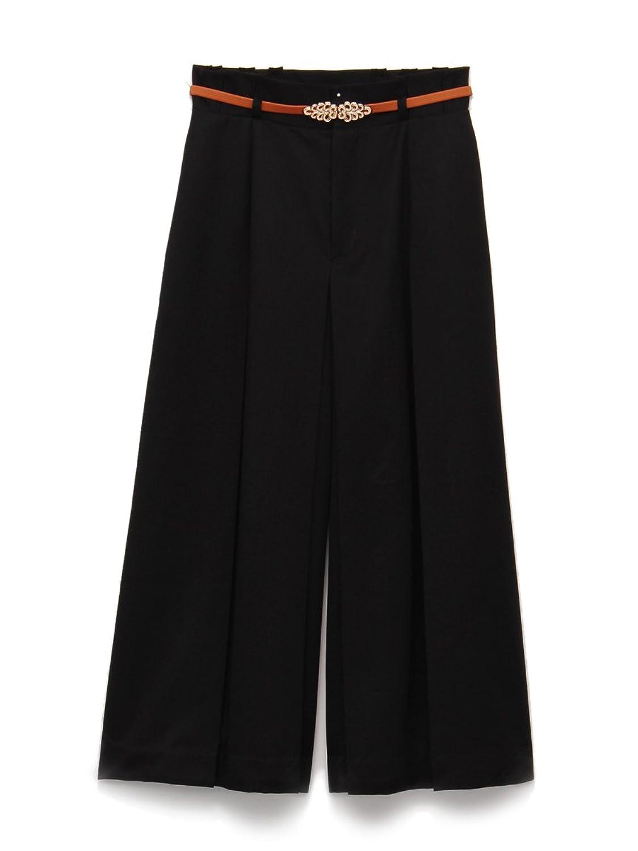 (リリーブラウン)Lily Brown タックガウチョパンツ : 服&ファッション小物通販 | Amazon.co.jp