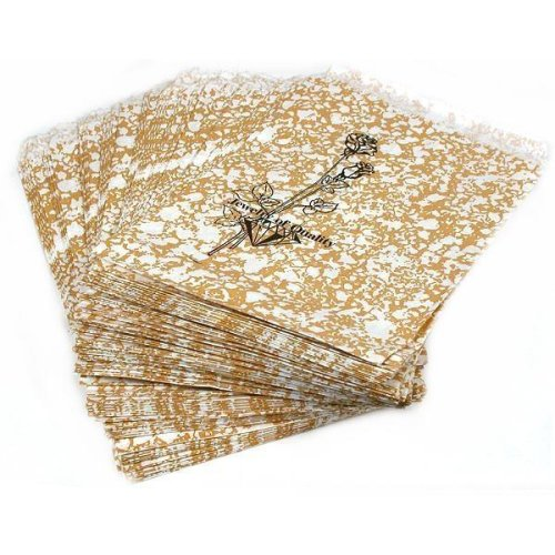 100 Gold Paper Gift Bags Shopping Sales Tote Bags 4 x 6