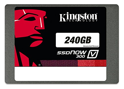 Kingston Digital 240GB SSDNow V300 SATA 3 2.5 (7mm height) with Adapter Solid State Drive SV300S37A/240G