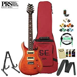 Paul Reed Smith SE Custom 24 7-String Electric Guitar Kit - Includes: Tuner, Cable, Strap, Stand, Pick Sampler and PRS Gig Bag