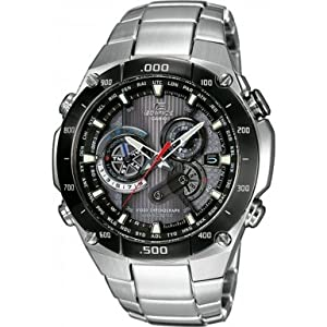 Casio - EQW-M1100DB-1AER - Gents Watch - Quartz - Analogue - Stainless Steel Silver Strap