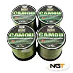 NGT Camou Carp Fishing Line Choice of...